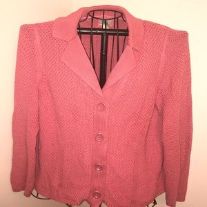 L.L. Bean Knit Button Down Cardigan Size Large